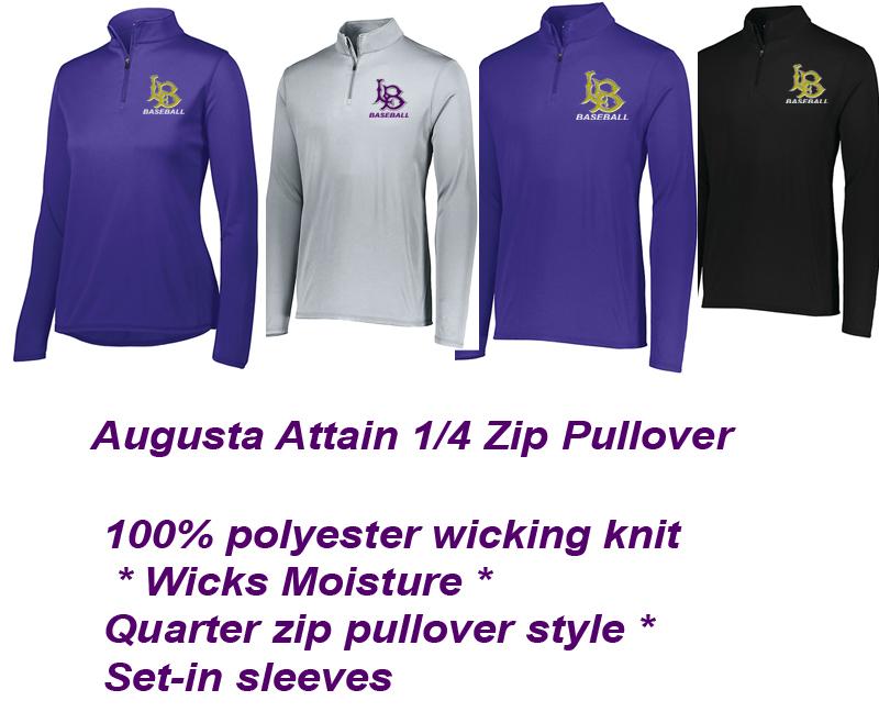 Augusta Attain 1/4 zip