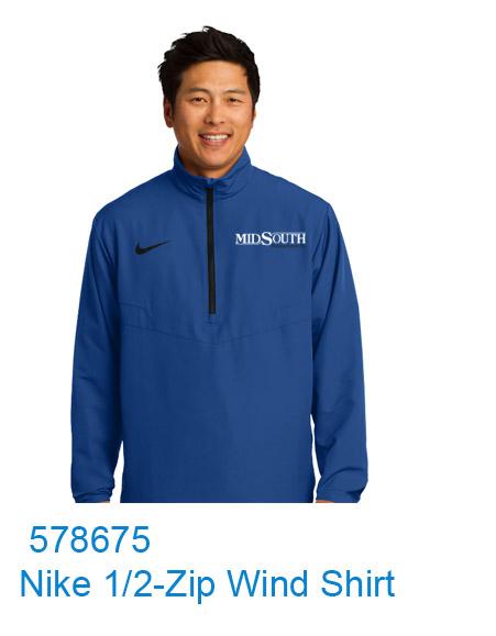 MidSouth 578675 Nike 1/2 Wind Shirt